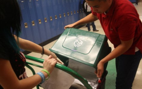 Students in the Anime Club pick up recycling every Monday.