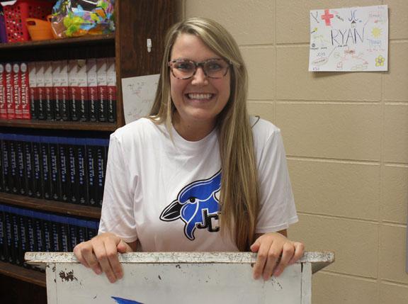 Ms. Stanley, a recent K-State graduate is a first year teacher at JCHS.