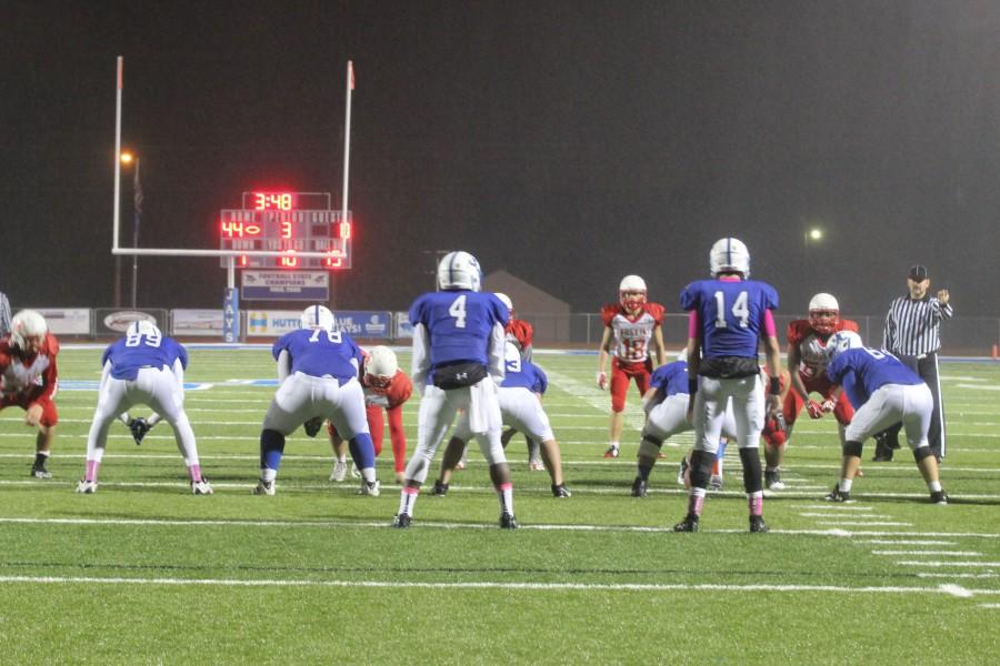 The Blue Jays' offense plays against Wichita North's defense.