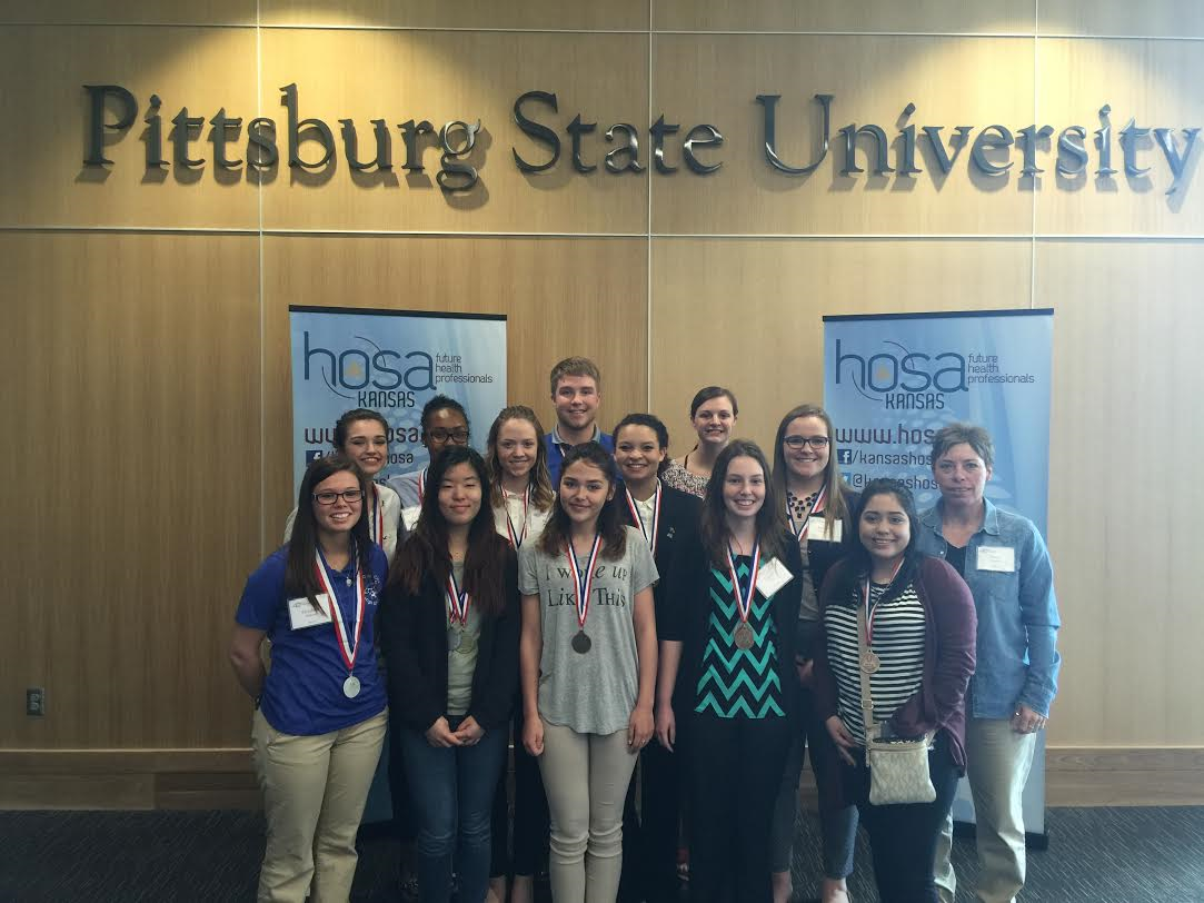 HOSA members at their state conference.