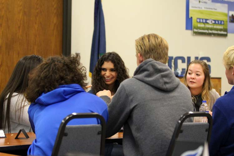 Junction City and Manhattan students came together to discuss their opinions and share ideas.
