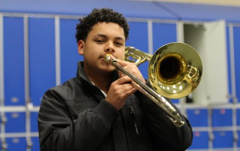 Trombone Player is First to Qualify for State Band in Over a Decade