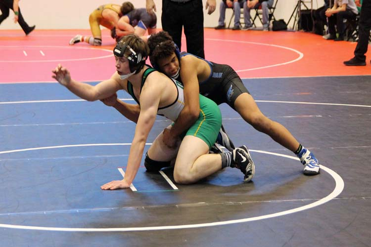 Terrance Adeleye wrestled Bryce Westmoreland from Derby to compete for the third place medal.