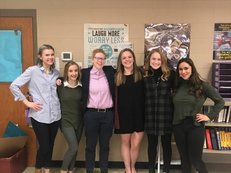 March+For+Our+Lives+JCHS+student+leaders+-+Kennedy+Cox%2C+Sidney+Budinas%2C+Laramie+Diestelkamp%2C+Jadie+Chauncey%2C+Leah+Ervin%2C+and+Abby+Khoury+-+say+%22Activism%21%22+for+the+camera.+