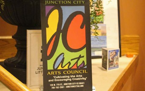 Students presented art at a silent auction to raise money for arts scholarships.