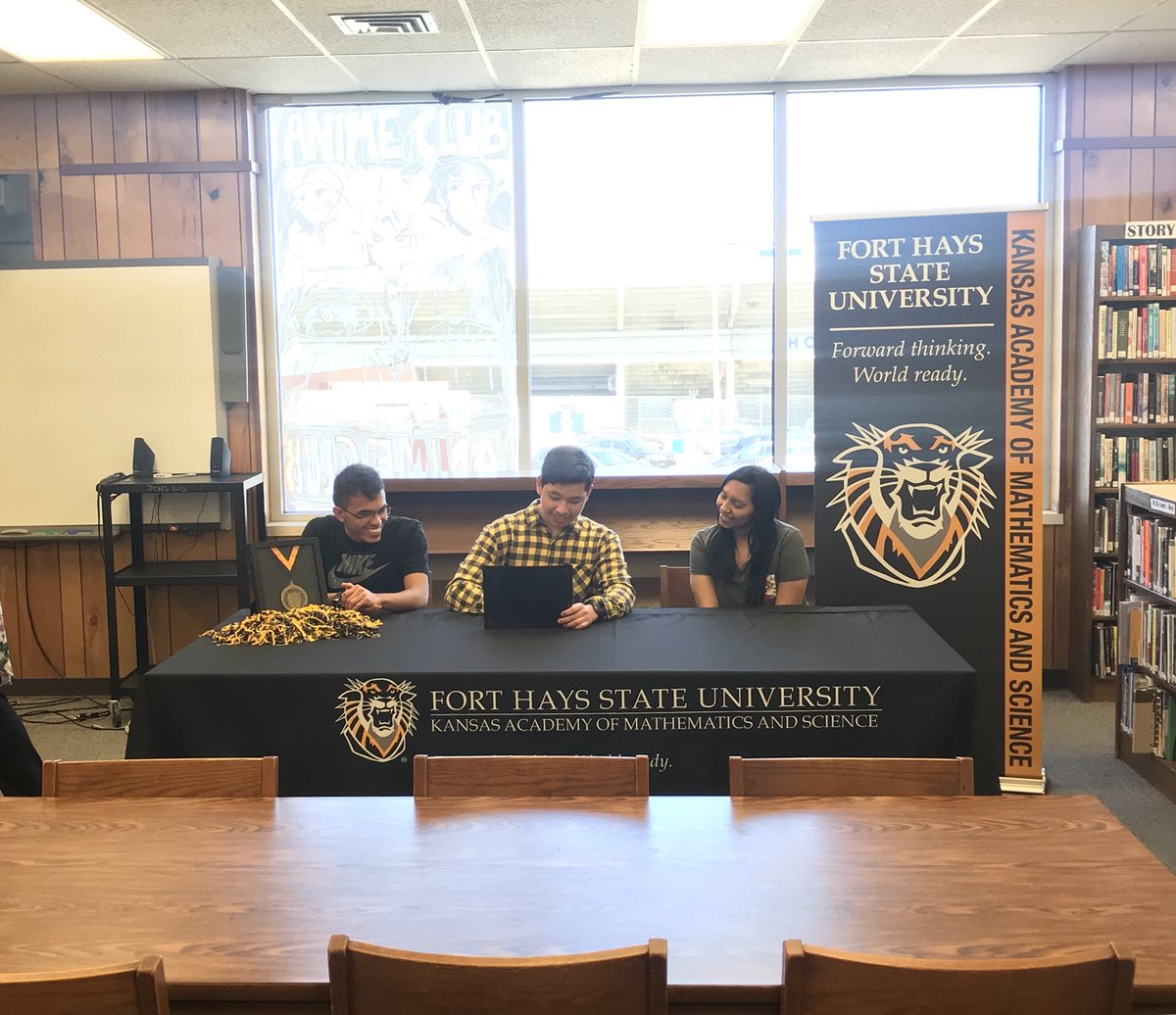 Sophomore Jerimiah Nieves was accepted into the Fort Hays State University KAMS program.