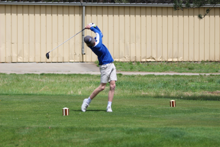 Logan Roether drives the ball on May 3rd.