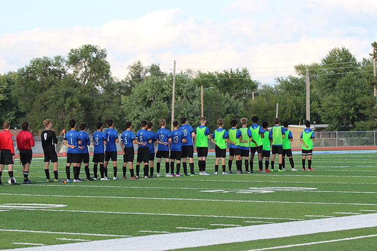Boys soccer team prepares for kickoff on September 13th game
