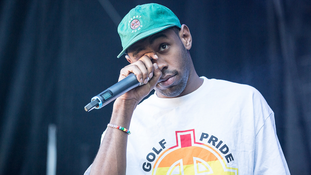 Tyler, the Creator on stage in Oslo, Norway for a music festival in 2015.