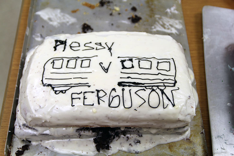 Ms. Cruzs cake made in honor of the Plessy v. Ferguson