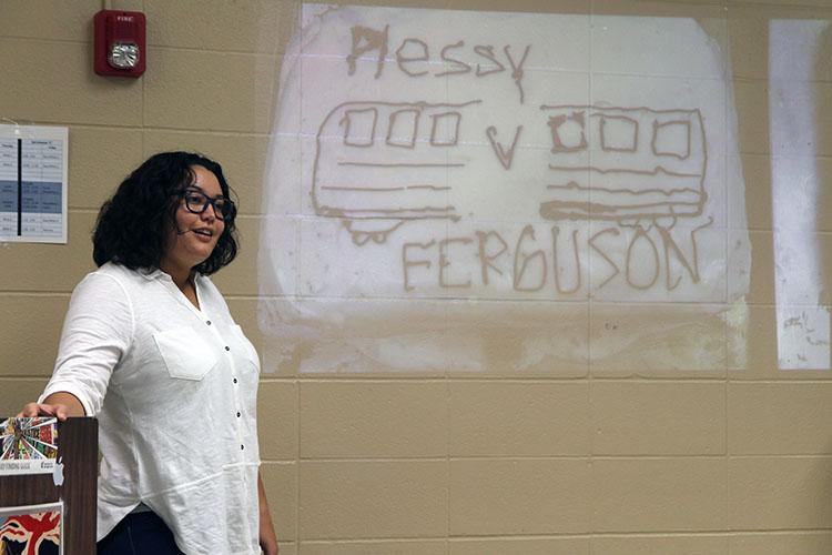 Ms. Cruz presenting her cake and how Plessy v. Ferguson represents federalism