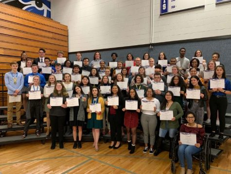 The class of 2019 at the 25th Annual Academic Banquet on Thursday, January 31.
