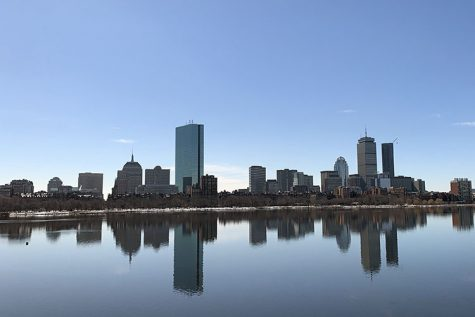 Outline of Boston, MA taken March 12, 2019