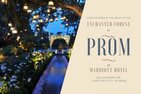 Prom will be held at the Courtyard Marriott on April 13th from 8-11 pm.
